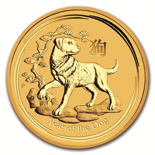 2018 1/4 Oz Australian Gold Lunar Dog