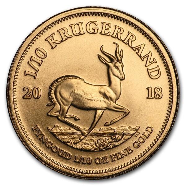 2018 1/10 Oz South Africa Gold Krugerrand