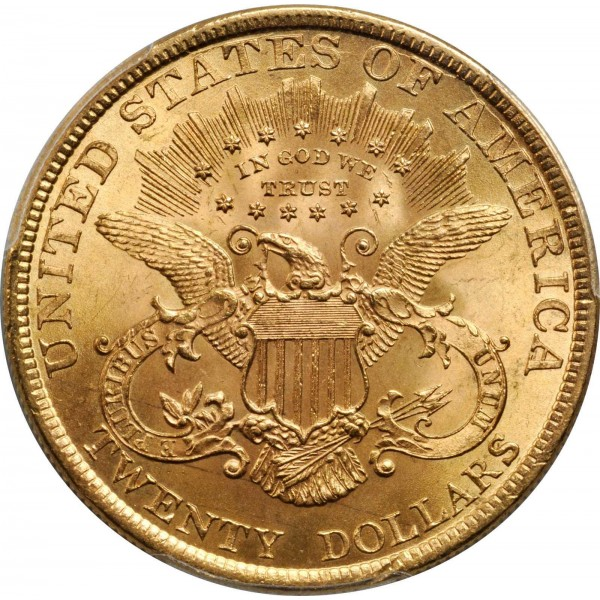 1898 Twenty Dollars Us Liberty Gold Eagle