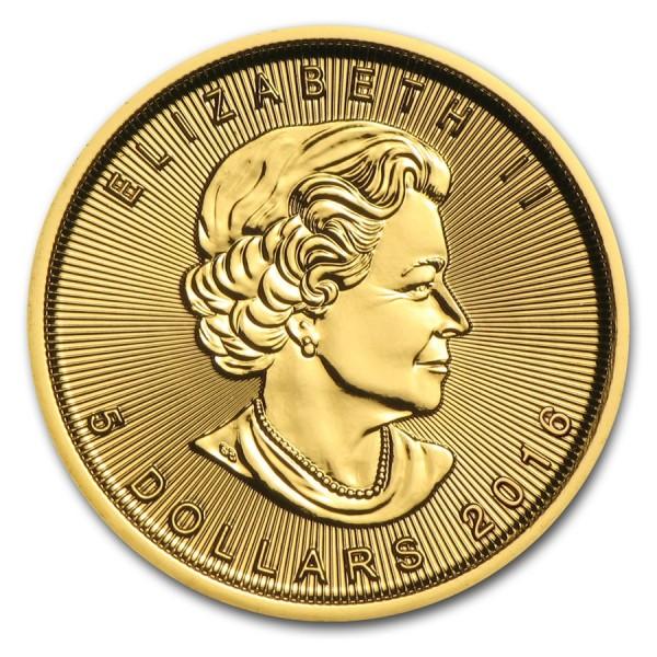 2016 1/10 Oz Canadian Gold Maple Leaf