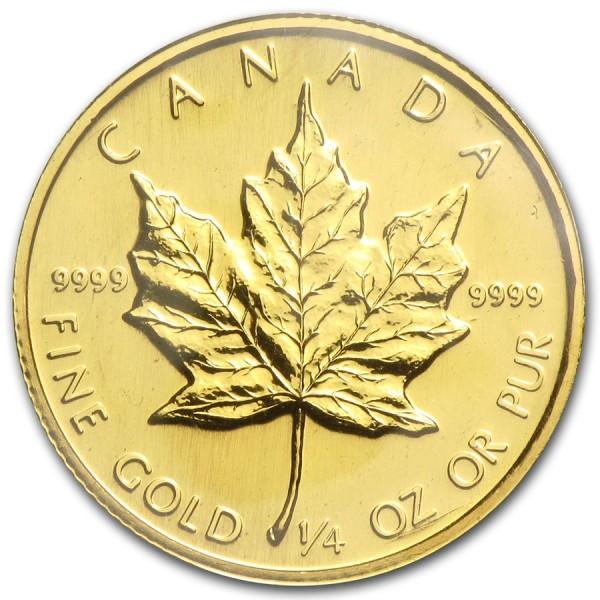 1987 1/4 Oz Canadian Gold Maple Leaf