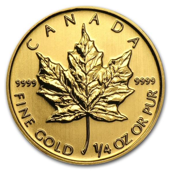 2013 1/4 Oz Canadian Gold Maple Leaf