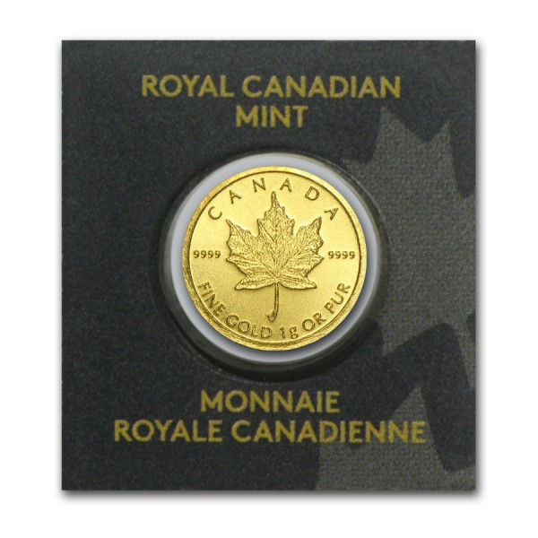2016 1g Gold Maple Leaf (in Assay)
