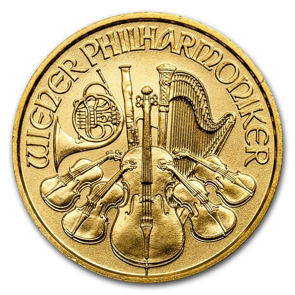 2017 1/10 Oz Austrian Gold Philharmonic