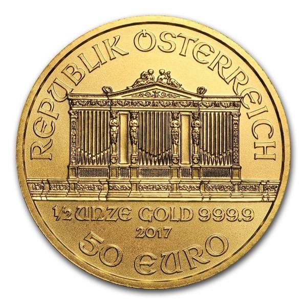 2017 1/2 OZ Austrian Gold Philharmonic