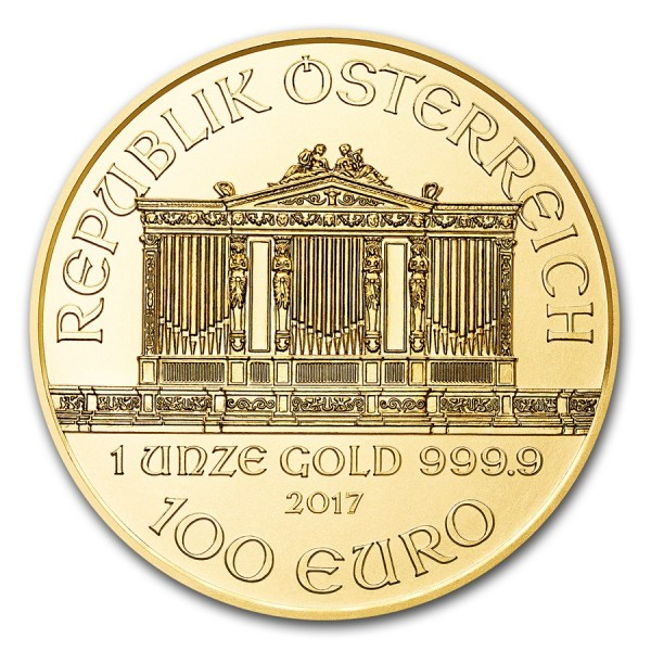 2017 1 Oz Austrian Gold Philharmonic