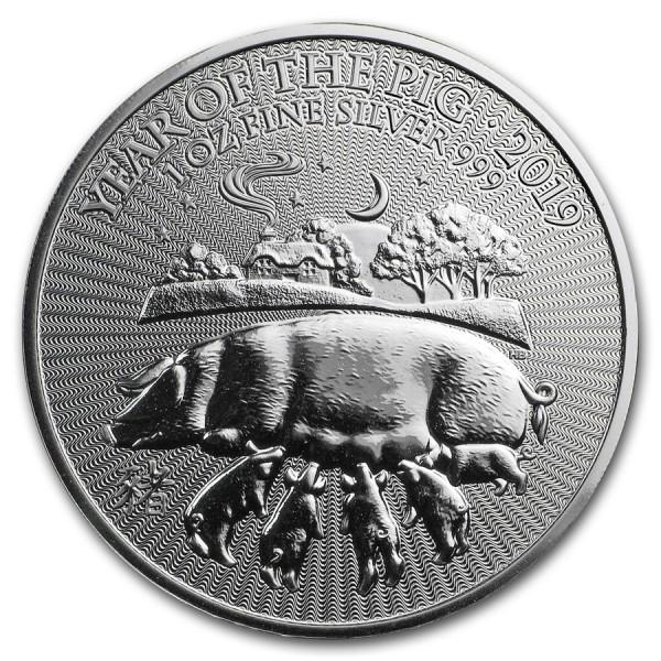 2019 1 Oz UK Lunar Pig