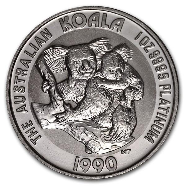 1990 1 Oz Australian Platinum Koala