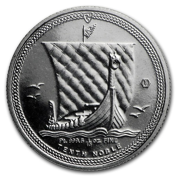 2016 1/10 Oz Platinum Noble Isle of Man