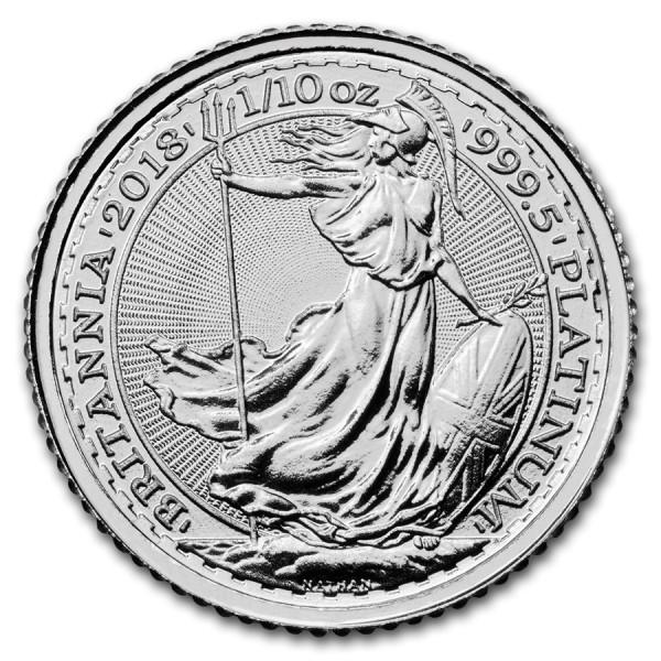 2018 1/10 Oz Great Britain Platinum Britannia