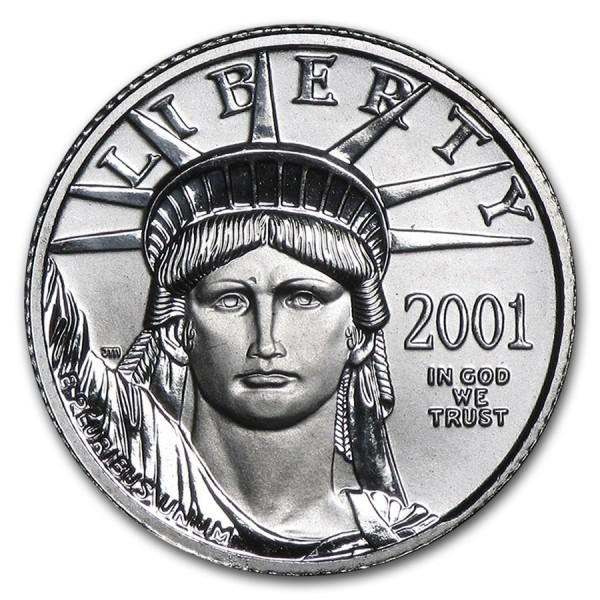2001 1/10 Oz American Platinum Eagle