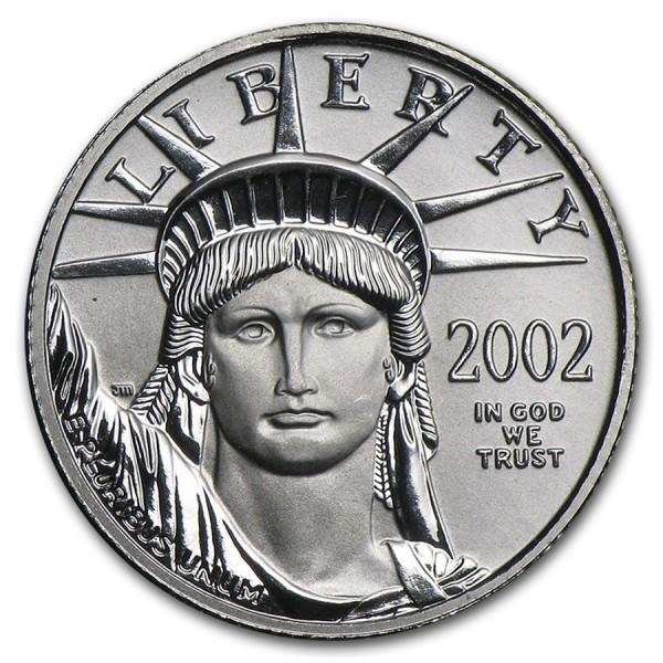 2002 1/10 Oz American Platinum Eagle