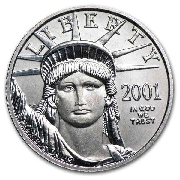 2001 1/4 Oz American Platinum Eagle
