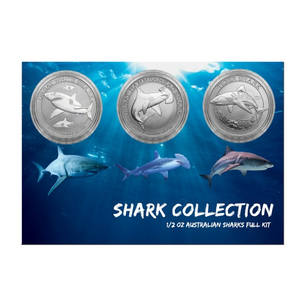Complete 1/2 Oz Australian Shark Collection