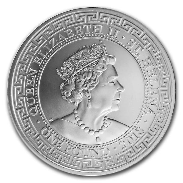 2018 1 Oz UK St. Helena Dollar Restrike