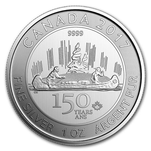 2017 1 Oz Canadian 150th Anniversary Voyageur