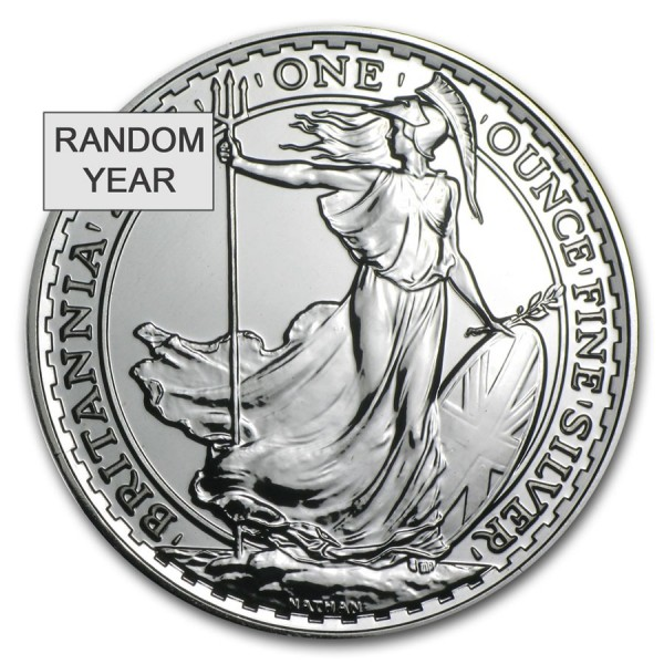 1 Oz UK Silver Britannia (Random Year)