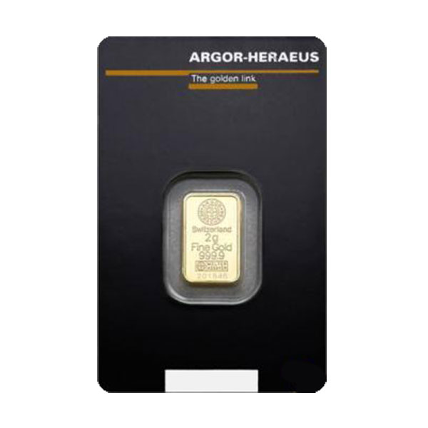 2g Argor-Heraeus Gold Bar