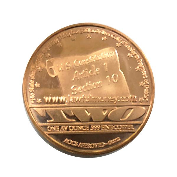 1 Oz Ten Commandments Copper Round