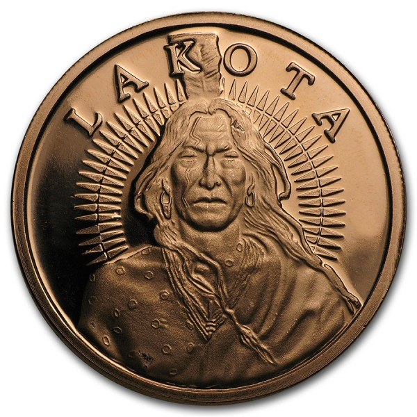 1 Oz Lakota Sioux Crazy Horse Copper Round