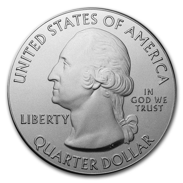 2016 5 Oz Fort Moultrie Quarter Dollar Round