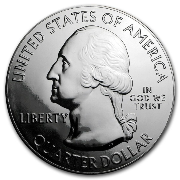 2016 5 Oz Harpers Ferry Quarter Dollar Round