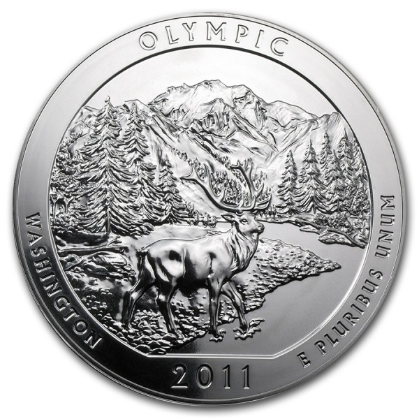 2011 5 Oz Olympic Quarter Dollar Round