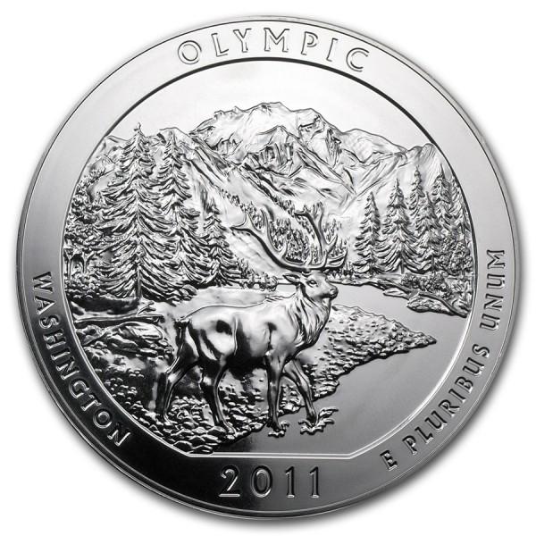2011 5 Oz Olympic Quarter Dollar Round
