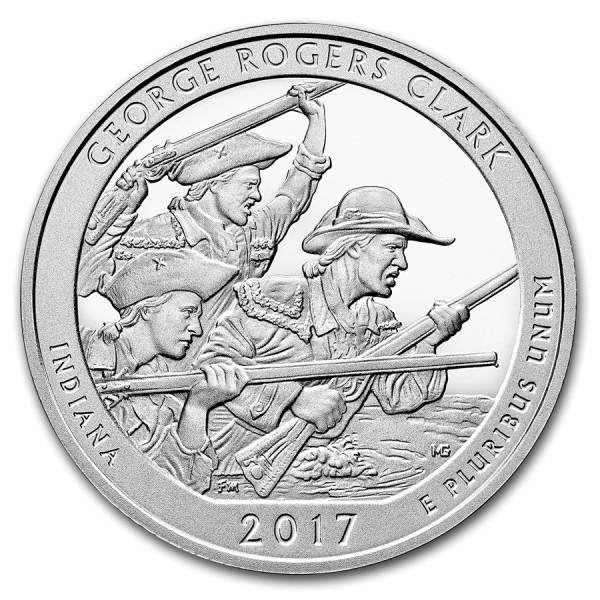 2017 5 Oz George Rogers Clark Quarter Dollar Round