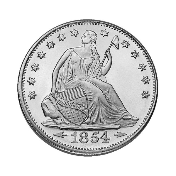 1 Oz Seated Liberty Silver Round