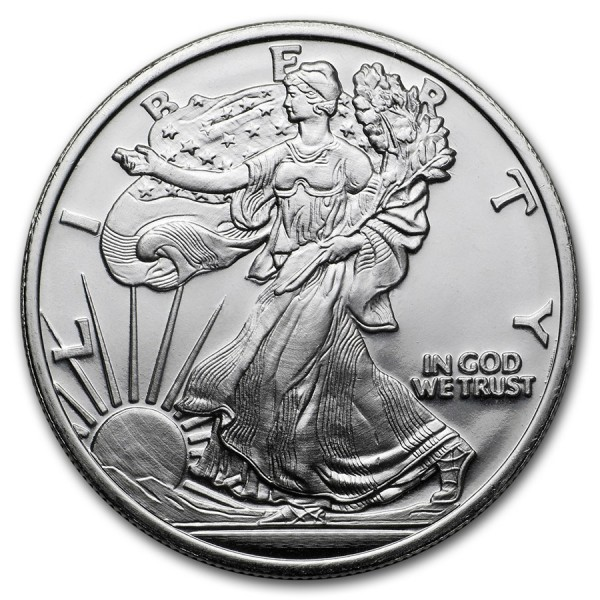 1 Oz Walking Liberty Silver Round