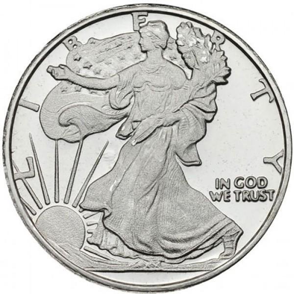 1 Oz Walking Liberty Silver Round